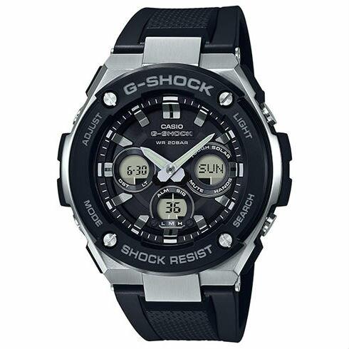 CASIOG-SHOCKGST-S300-1A絕對強悍時尚雙顯多功能腕錶50mm