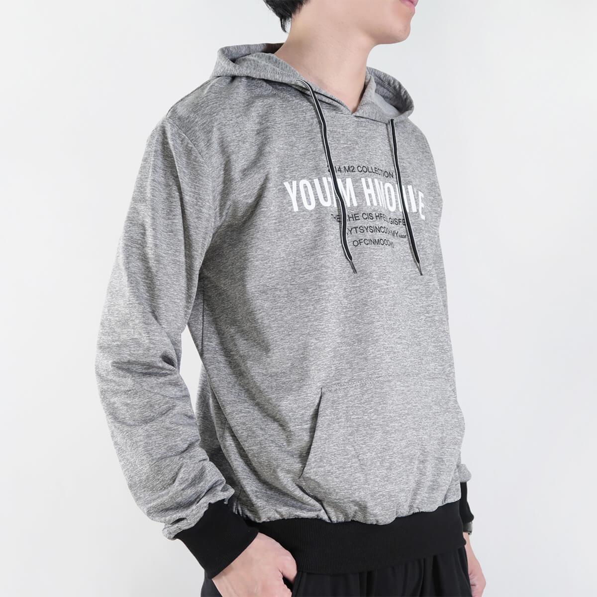 微刷毛紋理保暖帽T 連帽T恤 休閒連帽外套 長袖T恤 帽子T恤 連帽上衣 長袖上衣 休閒長TEE 灰色T恤 黑色T恤 LIGHT FLEECE LINED WARM HOODIE T-shirt (312-6071-21)黑色、(312-6071-22)灰色 XL 單一尺寸(胸圍46~48英吋) [實體店面保障] sun-e 2