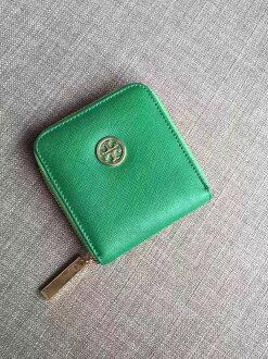 Outlet正品代購 Tory Burch TB 馬卡龍多色零錢包 草綠色 卡片包 證件包 錢包 皮包 有多色
