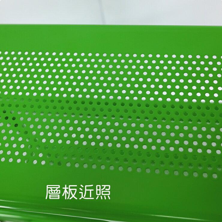 【凱樂絲】居家辦公兩用DIY 四層收納推車(粉綠款-寬16 cm) 角落空間利用, 附輪胎及把手, 容易移動 3