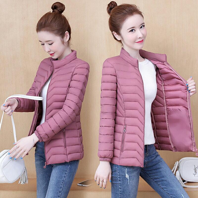 棉衣女式短款冬季新款羽絨棉服時尚媽媽輕薄小棉襖外套
