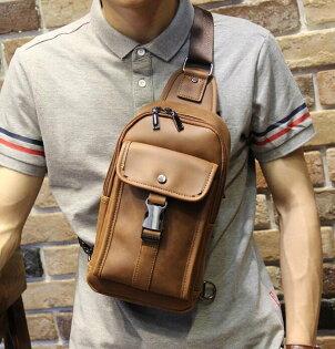 FINDSENSEZ1韓國時尚潮男休閒戶外豎款胸包IPAD包單肩包斜背包側背包斜挎包