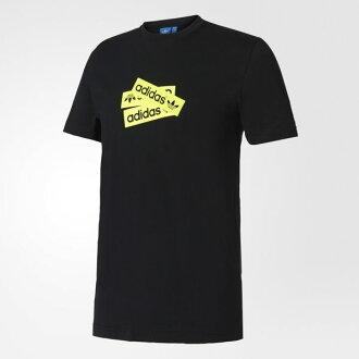 ADIDAS ORIGINALS GRAPHIC T-SHIRT 男裝 短袖 上衣 休閒 舒適 黑 黃 【運動世界】 BP8994