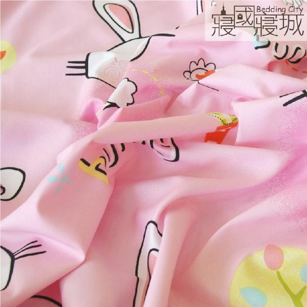 雙人床包(含枕套) PINK BUNNY粉紅兔【親膚柔軟、觸感升級、SGS檢驗通過】 # 寢國寢城 #磨毛 5