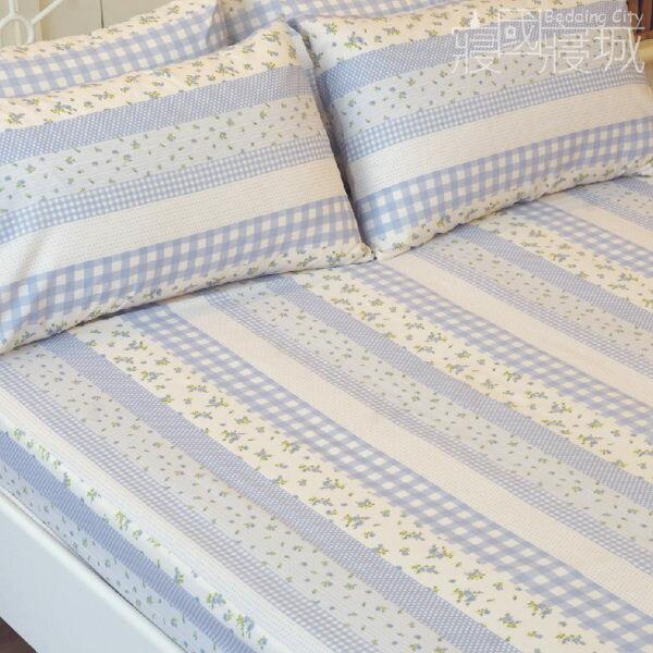 雙人床包(含枕套) 田園小花 #草莓 #藍莓【觸感升級、SGS檢驗通過】 # 寢國寢城 6