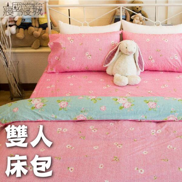 床包組/雙人/100%精梳棉-春天的氣息#粉色小花【大鐘印染、台灣製造】#精梳純綿