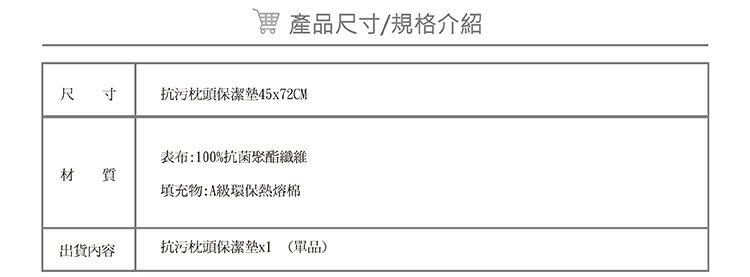 枕頭保潔墊『奈米防污防水』(單品) 【3層抗污型、可機洗、台灣製】 # 寢國寢城 7