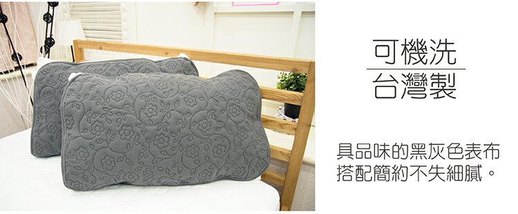 保潔墊防水雙人床包式 雕花竹炭 100%長效防水、保暖、消除異味 5x6.2尺 寢國寢城 3