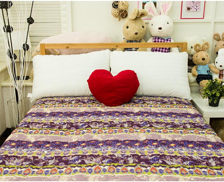 保潔墊 雙人印花鋪棉床包式 - 雅典夫人 三層抗汙/環保/鋪棉/延緩滲入 5x6.2尺 寢國寢城 4