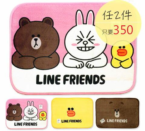 腳踏墊地墊 - LINE FRIENDS三款 [授權產品 吸濕防滑] 可愛造型 寢國寢城台灣製