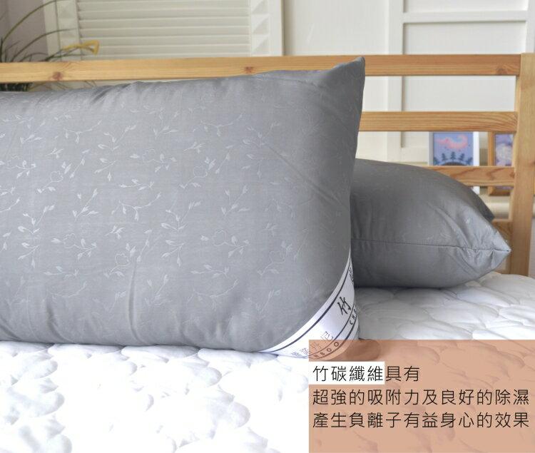 奈米竹炭布枕頭 (2入)【除溼、乾燥、活絡血液循環】# 台灣製 1
