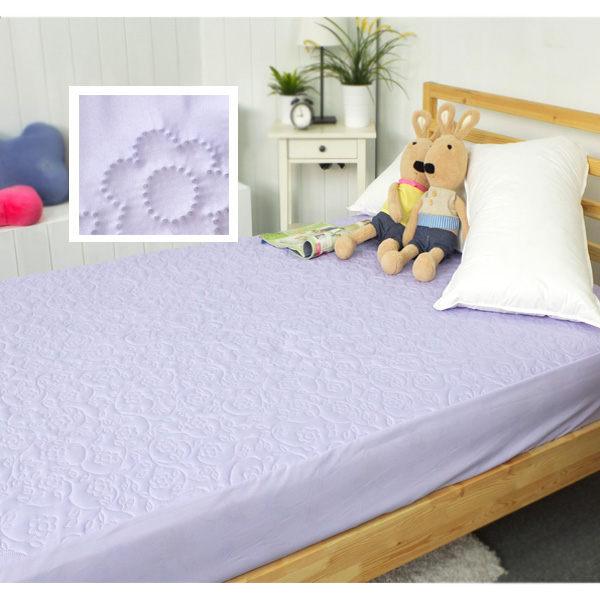 保潔墊單人床包式 獨家3層無毒貼合、抗菌防霉、可機洗 3.5x6.2尺立體雕花保潔墊 單品 3色任選 4