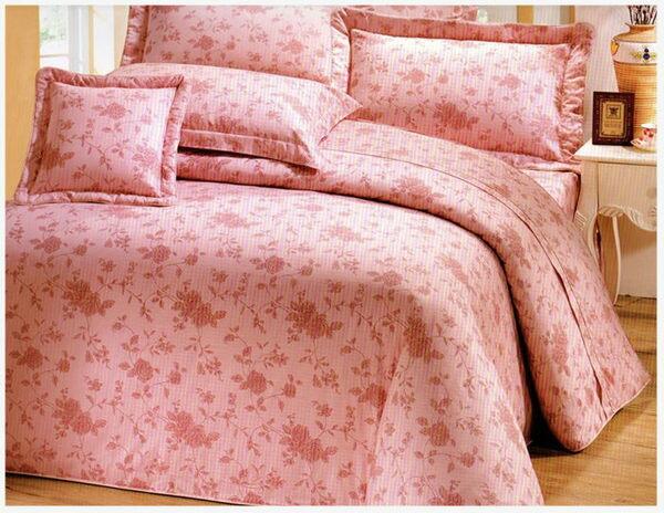 雙人床罩5件組精品【時尚設計】40支精梳純棉 100%天然棉 # 寢國寢城 1