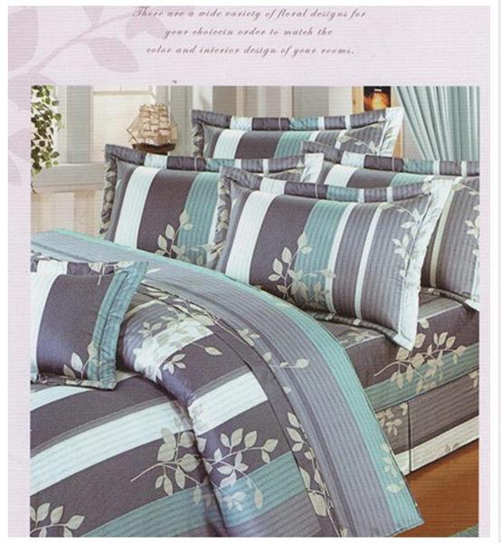 雙人床罩5件組精品【時尚設計】40支精梳純棉 100%天然棉 # 寢國寢城 4