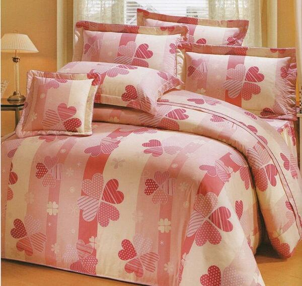 雙人床罩5件組精品【時尚設計】40支精梳純棉 100%天然棉 0