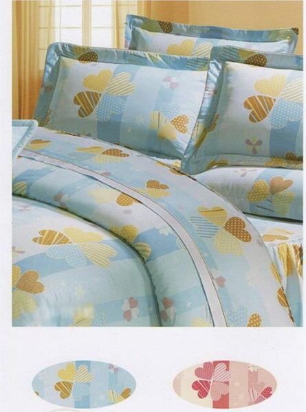 雙人床罩5件組精品【時尚設計】40支精梳純棉 100%天然棉 1