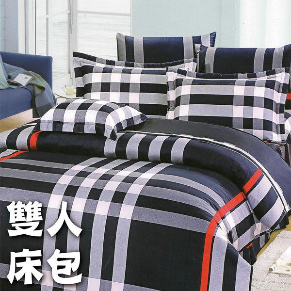 雙人7件式床罩組 (個性條紋)【專櫃精品、100%純綿、台灣製】# 寢國寢城 0