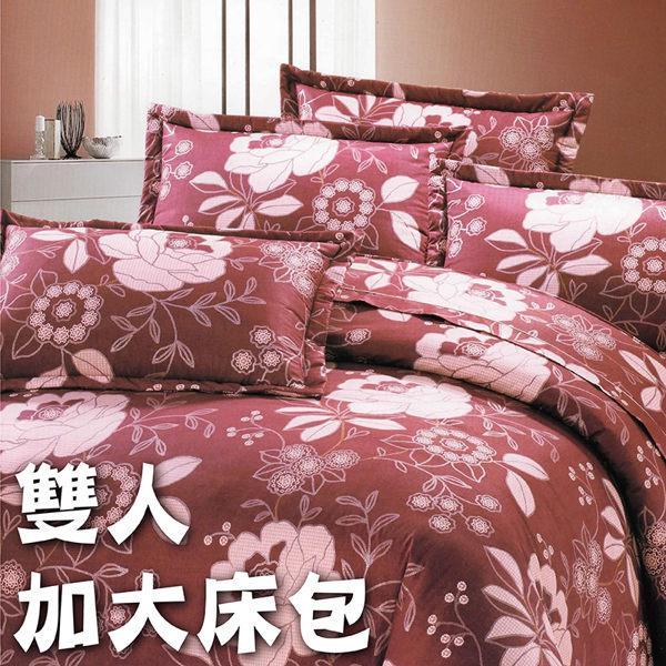 加大雙人7件式床罩組 (大花)【專櫃精品、100%純綿、台灣製】# 寢國寢城 0