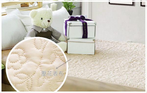 保潔墊雙人床包式 獨家3層無毒貼合、抗菌防霉、可機洗 5x6.2尺立體雕花保潔墊 單品4色任選 1