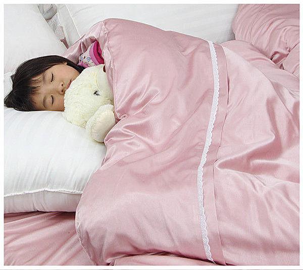 加大雙人床包被套4件組【滑順不悶熱、台灣製】綢緞絲棉床包組#5色 # 寢國寢城 4