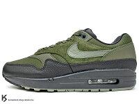 男性慢跑鞋到[20% OFF] 2017 台灣未發售 經典復刻鞋款 NIKE AIR MAX 1 PREMIUM 深綠 黑 墨綠 皮革 麂皮 氣墊 慢跑鞋 PRM (875844-201) !就在KUMASTOCK推薦男性慢跑鞋