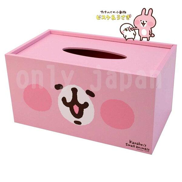 【真愛日本】18051200019木製面紙盒-大臉兔兔卡娜赫拉兔兔P助面紙盒衛生紙盒收納盒置物盒