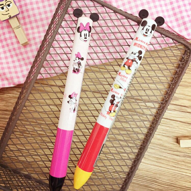 PGS7 日本迪士尼系列商品 - 插圖 撞色 系列 造型 雙色原子筆 原子筆 雙色筆 筆 米奇 米妮【SHJ6426】