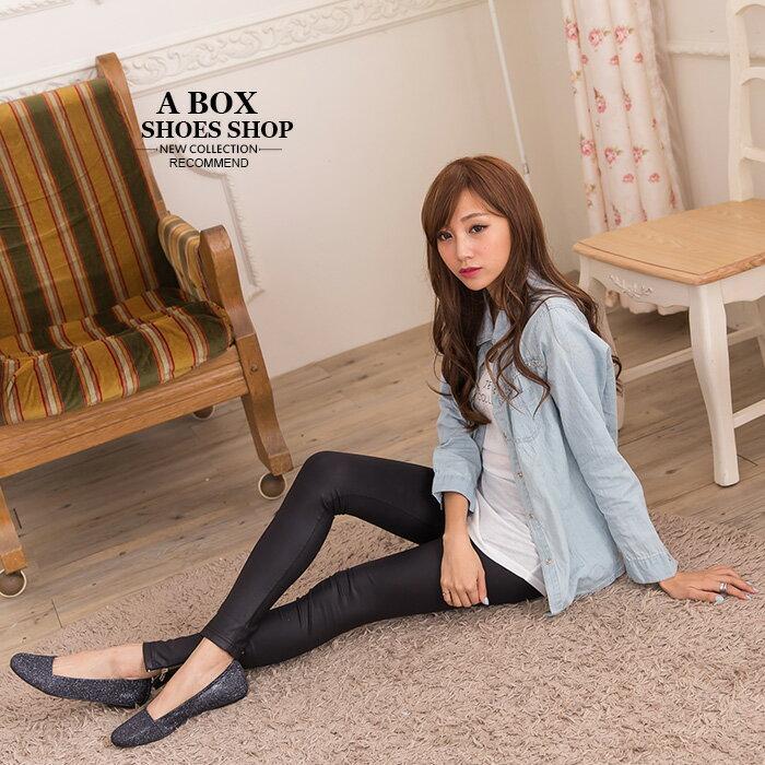 格子舖*【ADP841】MIT台灣製 低調奢華華麗金蔥材質 平底包鞋 娃娃鞋 懶人鞋 2色 1