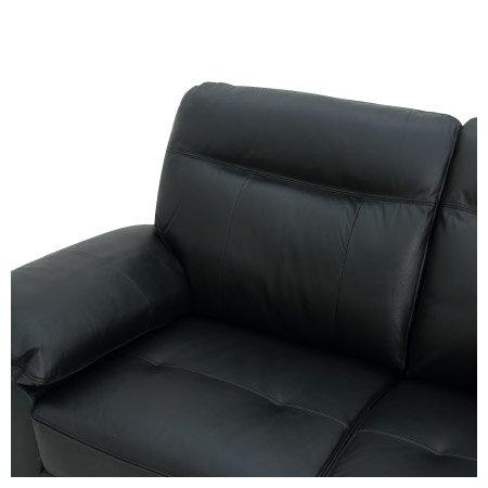 ◎(OUTLET)半皮左躺椅L型沙發 STONE BK 福利品 NITORI宜得利家居 4