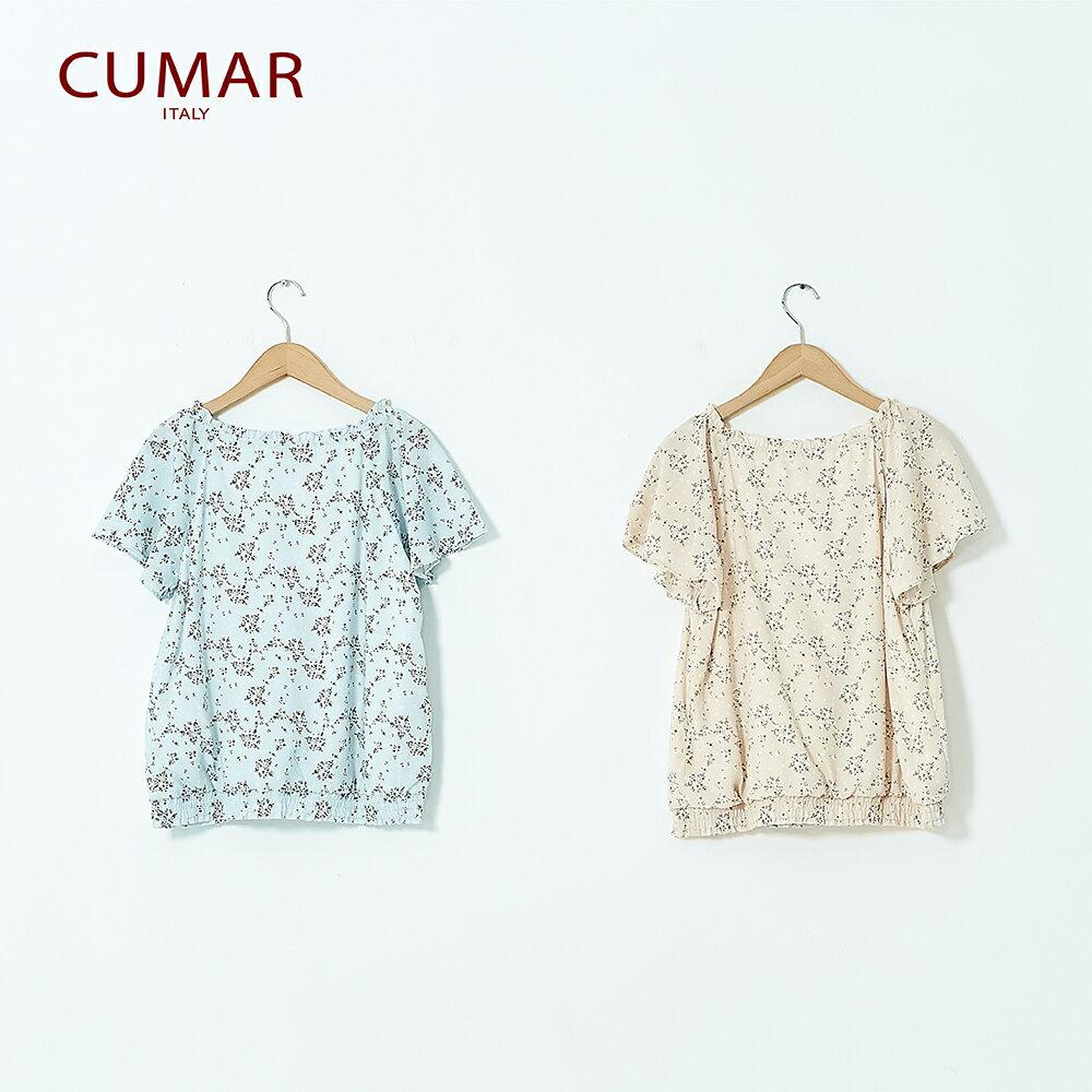 【CUMAR】休閒典雅印花-襯衫(二色) 5