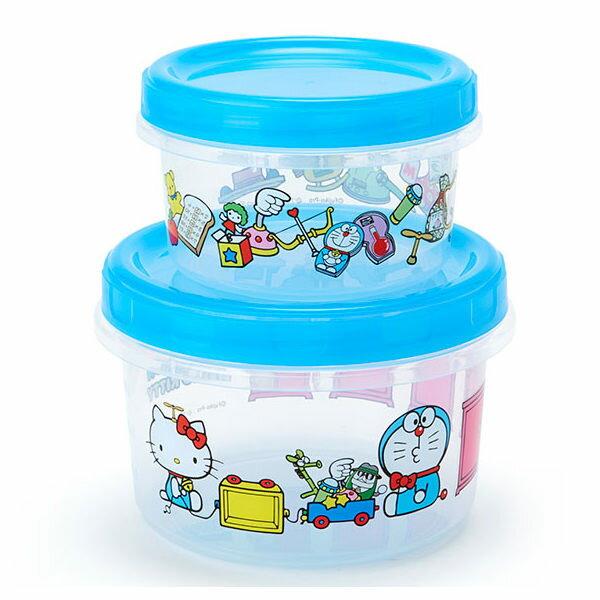 哆啦A夢KITTY保鮮盒便當盒2入組任意門系列739564海渡