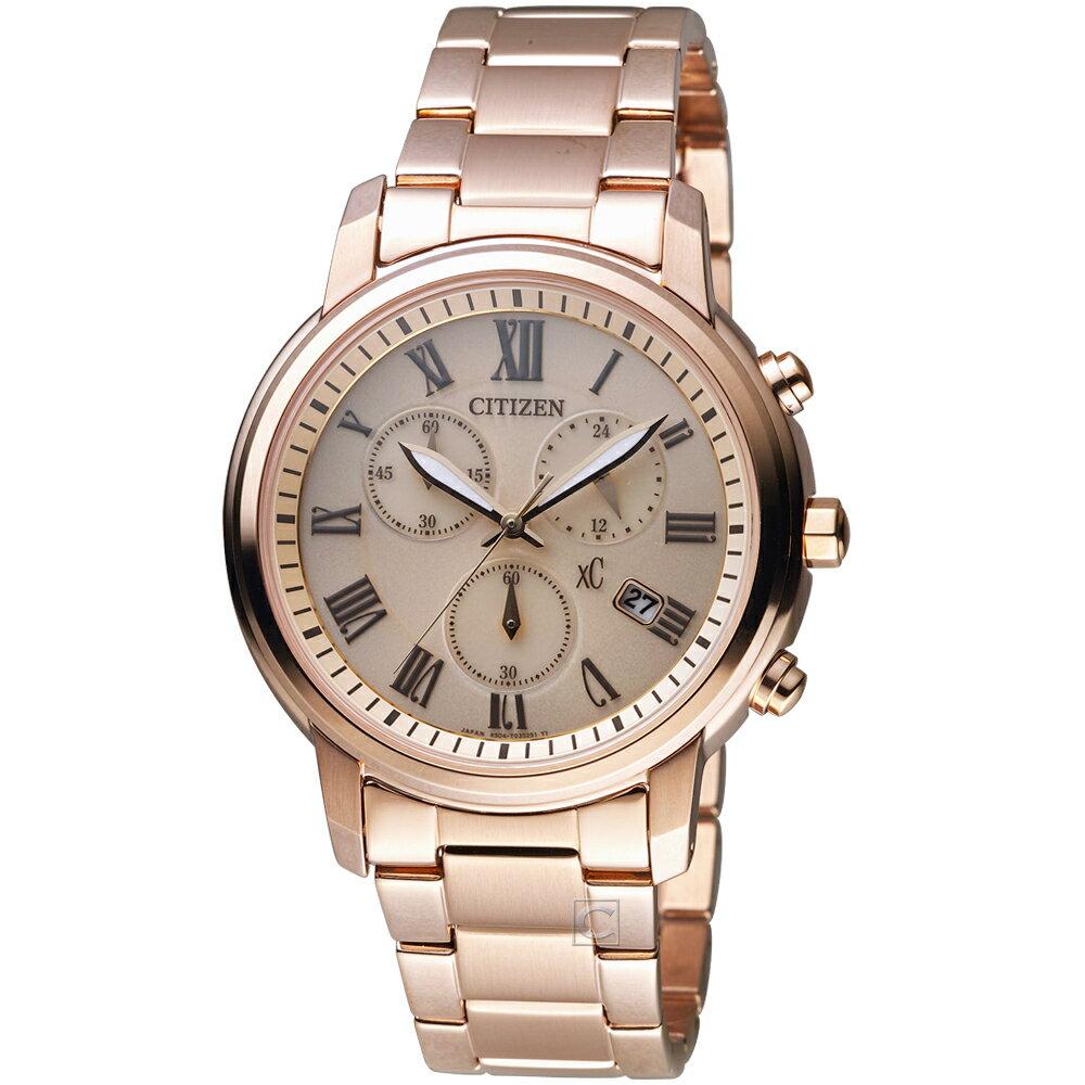 寶時鐘錶 CITIZEN 星辰 xC系列 典雅風範亞洲限定計時腕錶 FB1432-55X