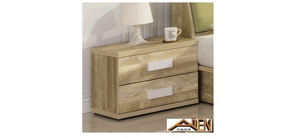 亞倫傢俱*卓希普橡木色床頭櫃