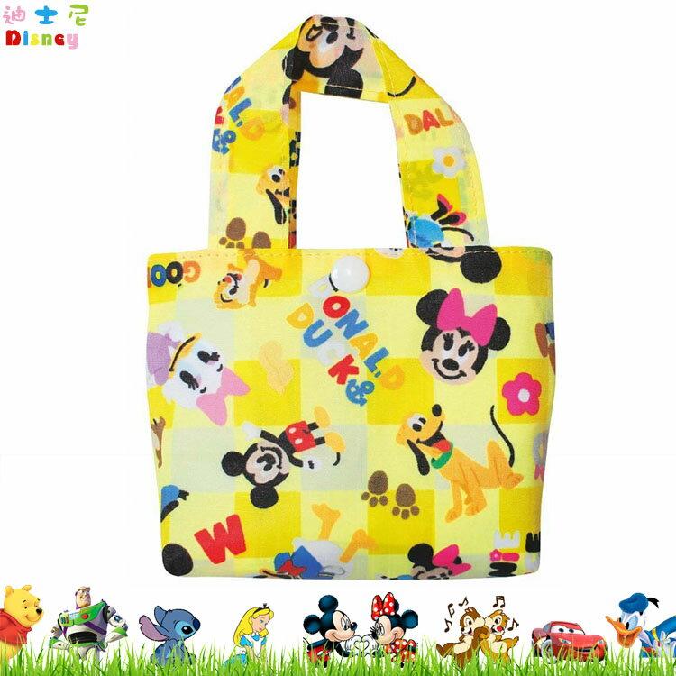 迪士尼 米奇 米妮 環保袋 購物袋 收納袋 摺疊袋 手提袋 買菜媽媽袋 可摺疊收納 日本進口正版 047552