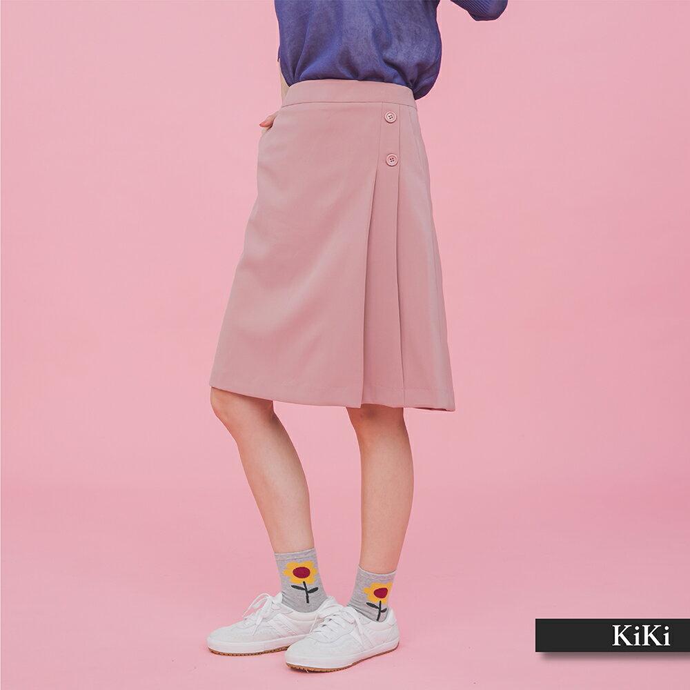 【齊心抗疫零接觸】超值折扣+滿999免運【KiKi】上班族系列氣質-女長裙(粉色/版型適中)