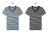 ☆BOY-2☆【PPK82110】短袖T恤韓簡約休閒V領細橫條紋滾邊素面短T 2