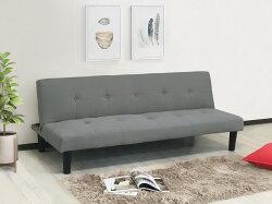 !新生活家具!《青青》灰色 沙發床 亞麻布 三人座 三人沙發 布沙發 三段調節 臥室 小資族 日式 現代 5色