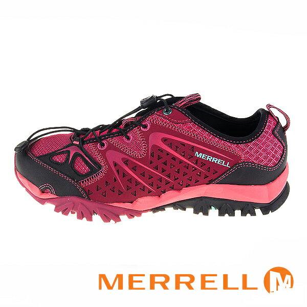 【MERRELL 促銷7折│全店免運】MERRELL CAPRA RAPID 水陸兩用鞋 戶外休閒鞋 桃紅-ML35490