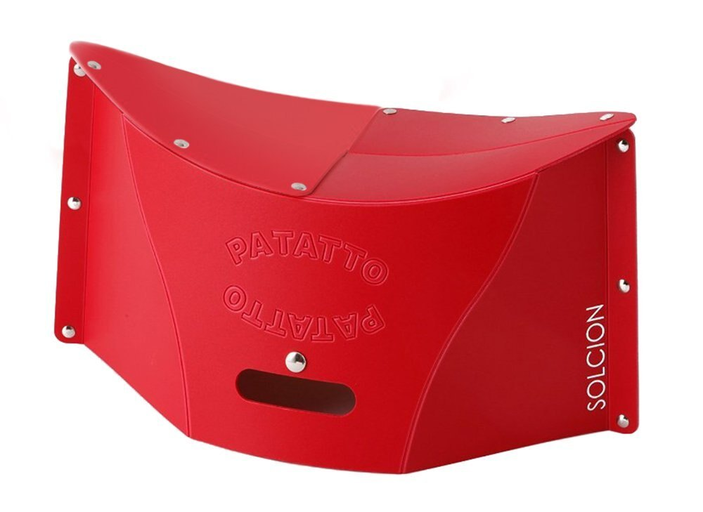 X射線【C640862】PATATTO 超輕量可折疊攜帶式椅子M-紅,露營椅/收納椅/造型椅/折疊椅/凳子/矮凳/板凳/椅子