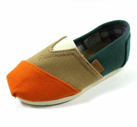 [陽光樂活] ZAPI 西班牙 防潑水休閒懶人鞋 防滑橡膠鞋底 - KD423216 橘卡其珊瑚綠