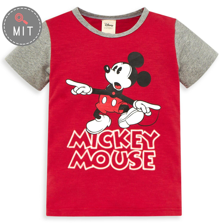 Disney 米奇系列驚喜俏皮配色上衣-紅色(好窩生活節) - 限時優惠好康折扣