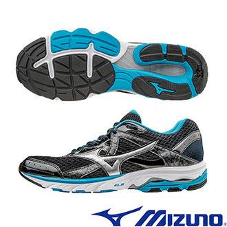 MIZUNO WAVE ELEVATION 2 黑藍銀 休閒鞋│運動鞋│健走鞋