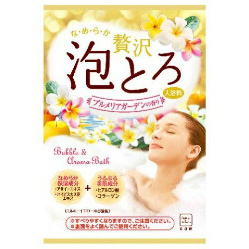 【12包入】日本製 COW 牛乳石鹼 奢侈泡泡入浴劑 濃密泡泡(黃-雞蛋花香) 30g/包*夏日微風*
