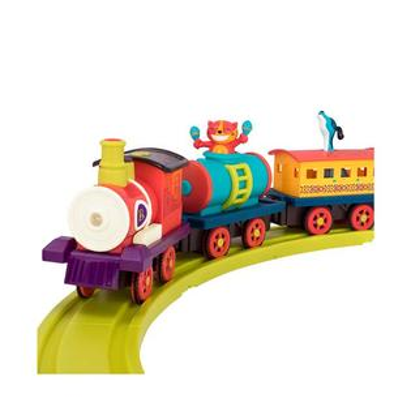 【奇買親子購物網】美國B.Toys巡迴演出蒸汽火車