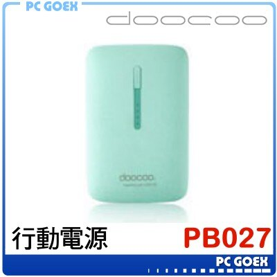 doocoo PB-027 綠 行動電源 iplam3 2Gen 9000mAh ☆pcgoex 軒揚☆