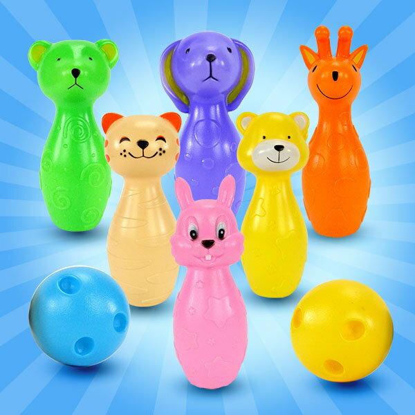 【888便利購】幼兒可愛動物造型保齡球(6瓶+2球)