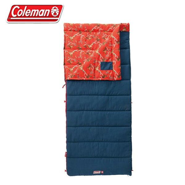 【露營趣】中和安坑ColemanCM-32340CozyII紅睡袋C55℃刷毛睡袋信封型睡袋化纖睡袋纖維睡袋可全開併接
