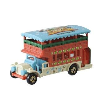【真愛日本】15111400037 DN樂園小車-15聖誕綜合巴士 迪士尼 米老鼠米奇 米妮 聖誕節限定 小車 模型
