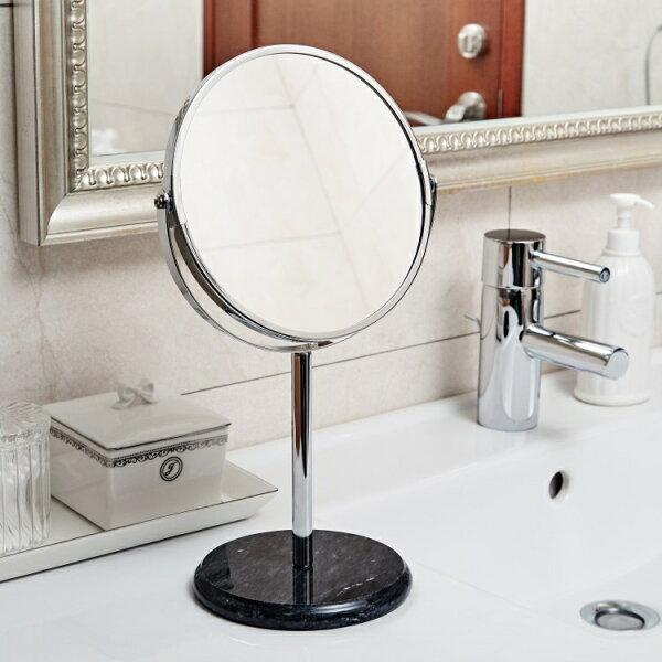 大理石雙面鏡-時尚黑