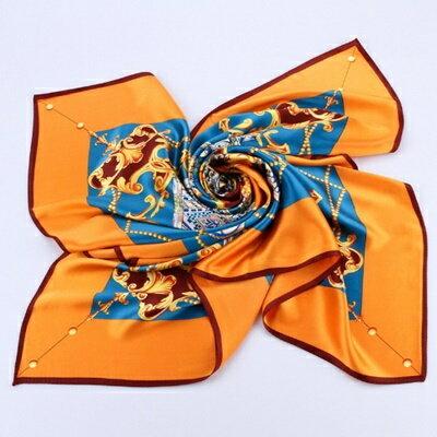 絲巾桑蠶絲圍巾-歐美時尚精美圖騰女配件4色73hx8【獨家進口】【米蘭精品】